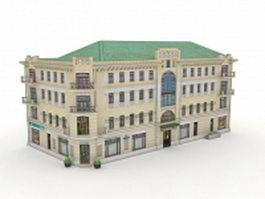Historical russian apartment building 3d model