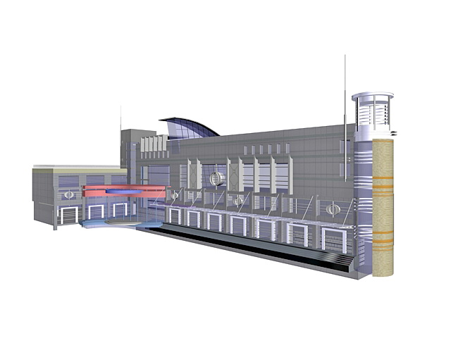 Airport terminal building 3d model - CadNav