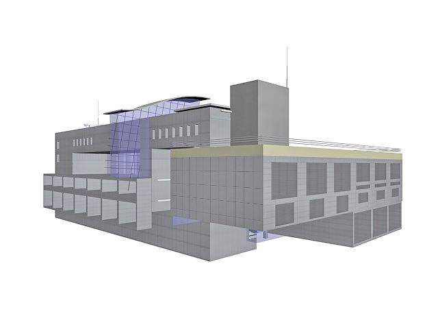 Airport Terminal Building 3d Model 3ds Max Files Free