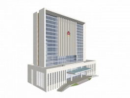 Court building in China 3d model