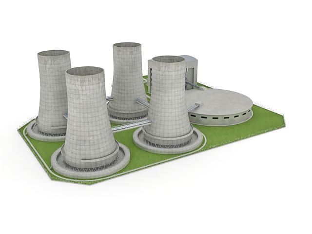 Nuclear Power Plant 3d Model 3ds Max Files Free Download