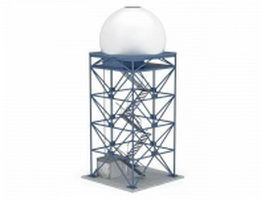 Industrial silo tower 3d model
