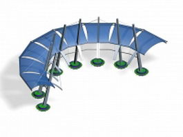 Curved tensile structure 3d model