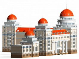 Russian revival style architecture 3d model