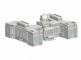 Old Russian architecture 3d model