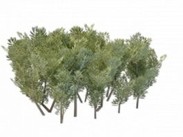 Landscaping bushes plants 3d model