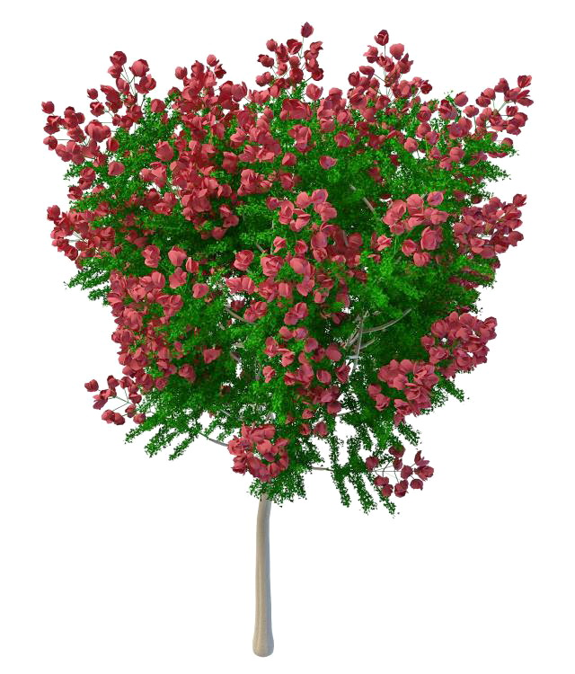 Artificial Tree With Red Flowers 3d Model 3ds Max Files