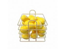Fruits basket lemons 3d model