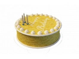 Fancy birthday cake 3d model