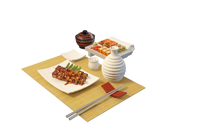 Japanese food cuisine 3d model 3ds max files free download for Cuisine 3d solidworks