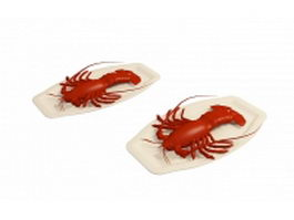 Lobster dishes 3d model