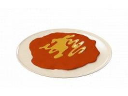 Pizza plate 3d model