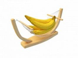 Banana wood holder 3d model
