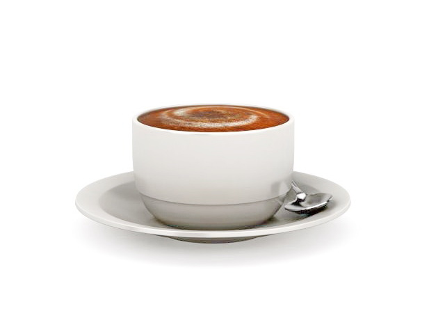 Cup of coffee with saucer 3d model 3ds max files free download