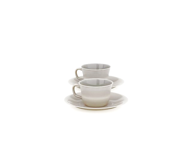 Coffee cups and saucers 3d model 3ds max files free download