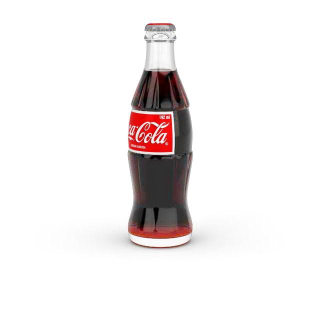 Coca Cola glass bottle 3d model 3ds max files free download