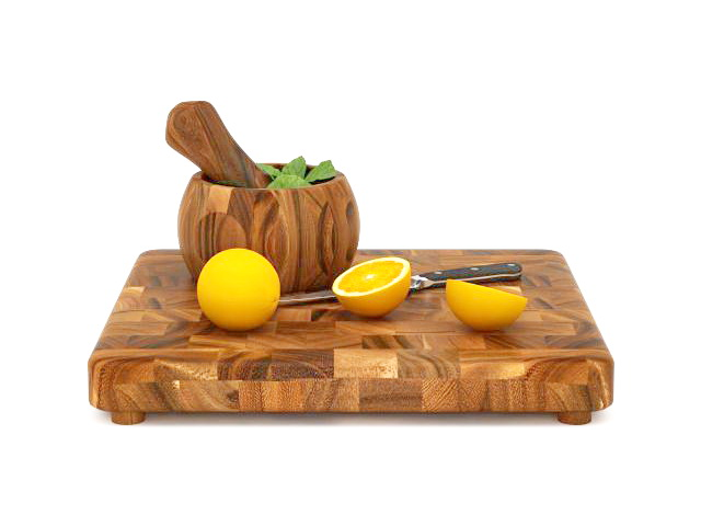 Lemon And Cutting Board 3d Model 3ds Max Files Free