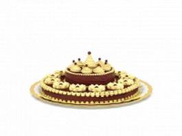 German chocolate cake 3d model