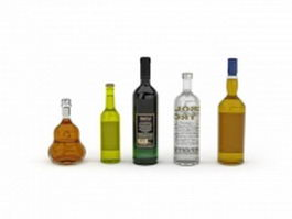 Bottles of Liquor 3d model
