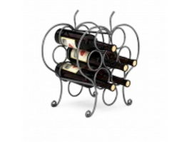 Home wine bottle rack 3d model