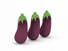 Vegetables eggplant 3d model