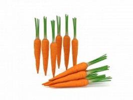 Raw carrots 3d model