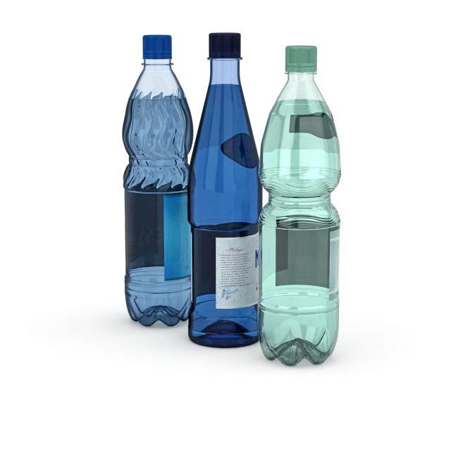 Plastic beverage bottles 3d model 3dmax files free download.
