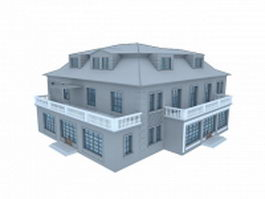Amazing vintage home building 3d model