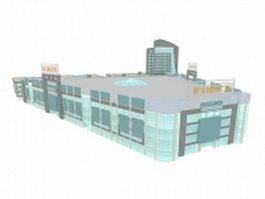 Plaza shopping center 3d model