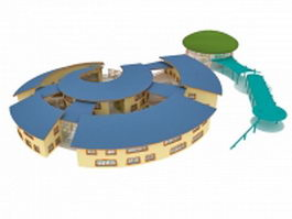 Kindergarten building 3d model