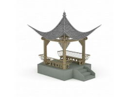 Ancient Chinese pavilion 3d model