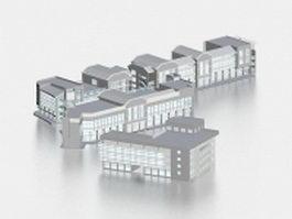 Commercial retail building 3d model