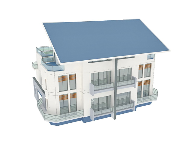 Modern villa 3d model 3ds max files free download - modeling 32691