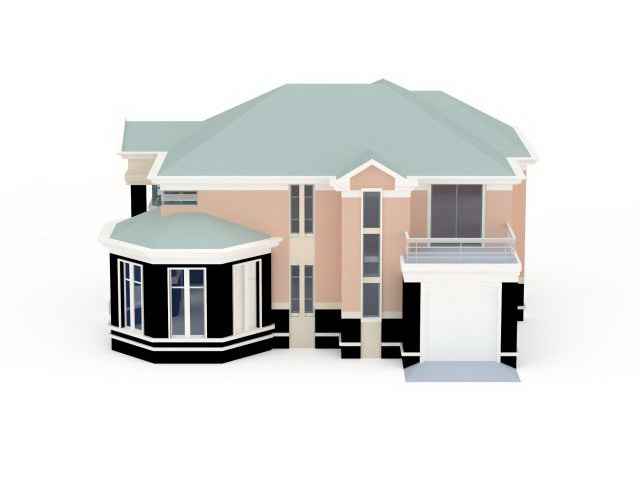 House with garage 3d model 3ds max files free download for 3d garage builder