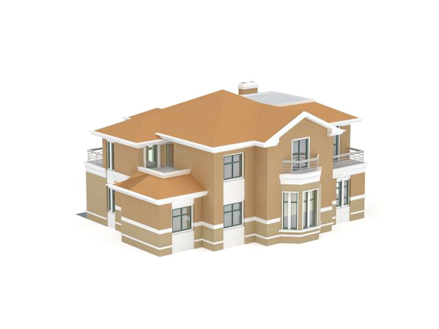 House plan with garage 3d model 3ds max files free for Plan 3d garage