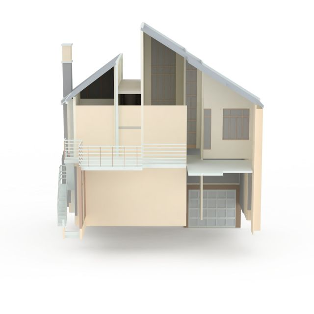 Modern Japanese house 3d model 3ds max files free download ...