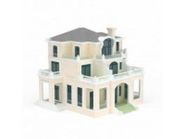Three storey villa 3d model