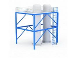 Sliding frame silo 3d model