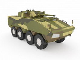 US military armored vehicle 3d model