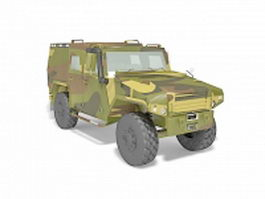 Military army jeep 3d model