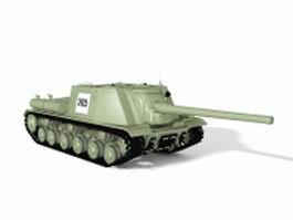 ISU-122 Russian tank destroyer 3d model