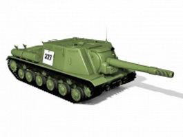 ISU-152 Soviet multirole tank destroyer 3d model