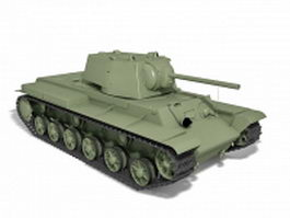 Soviet tank destroyer 3d model