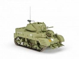 WW2 American tank 3d model