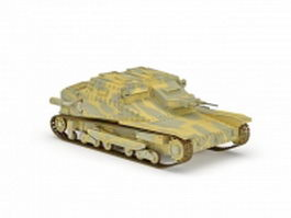 CV-35 Italian light tank 3d model
