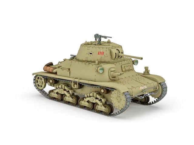 Fiat-Ansaldo M13 WW2 Italian tank 3d rendering