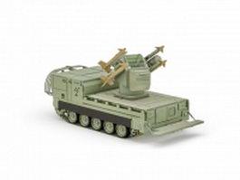 M730 Chaparral missile launcher 3d model