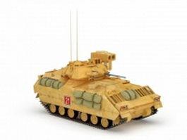 American M2A1 medium tank 3d model