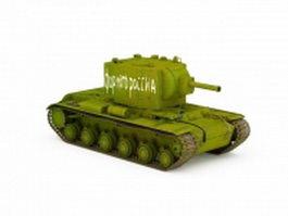 Soviet light tank 3d model