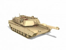 American M1 Abrams tank 3d model